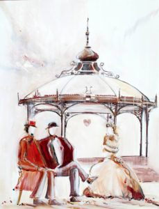 Conversation entre Eugène et Eugène - Acrylique sur toile - 116x81 cm