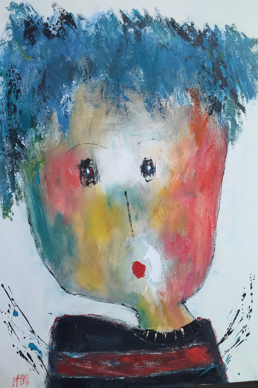 Célestin - Huile sur toile - 116x73 cm