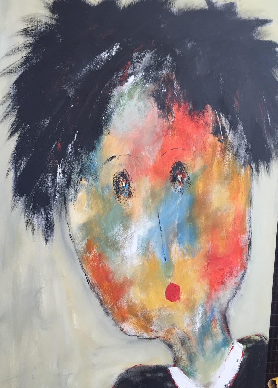 Léopold - Huile sur toile - 116x73 cm