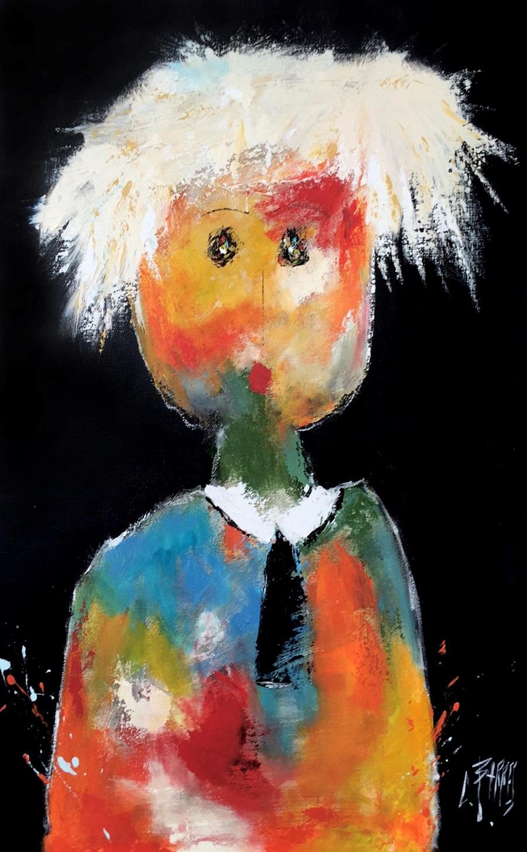 Le peintre - Huile sur toile - 116x7. cm