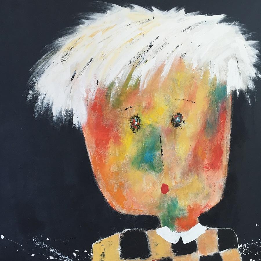 Marcellin - Huile sur toile - 120x120 cm