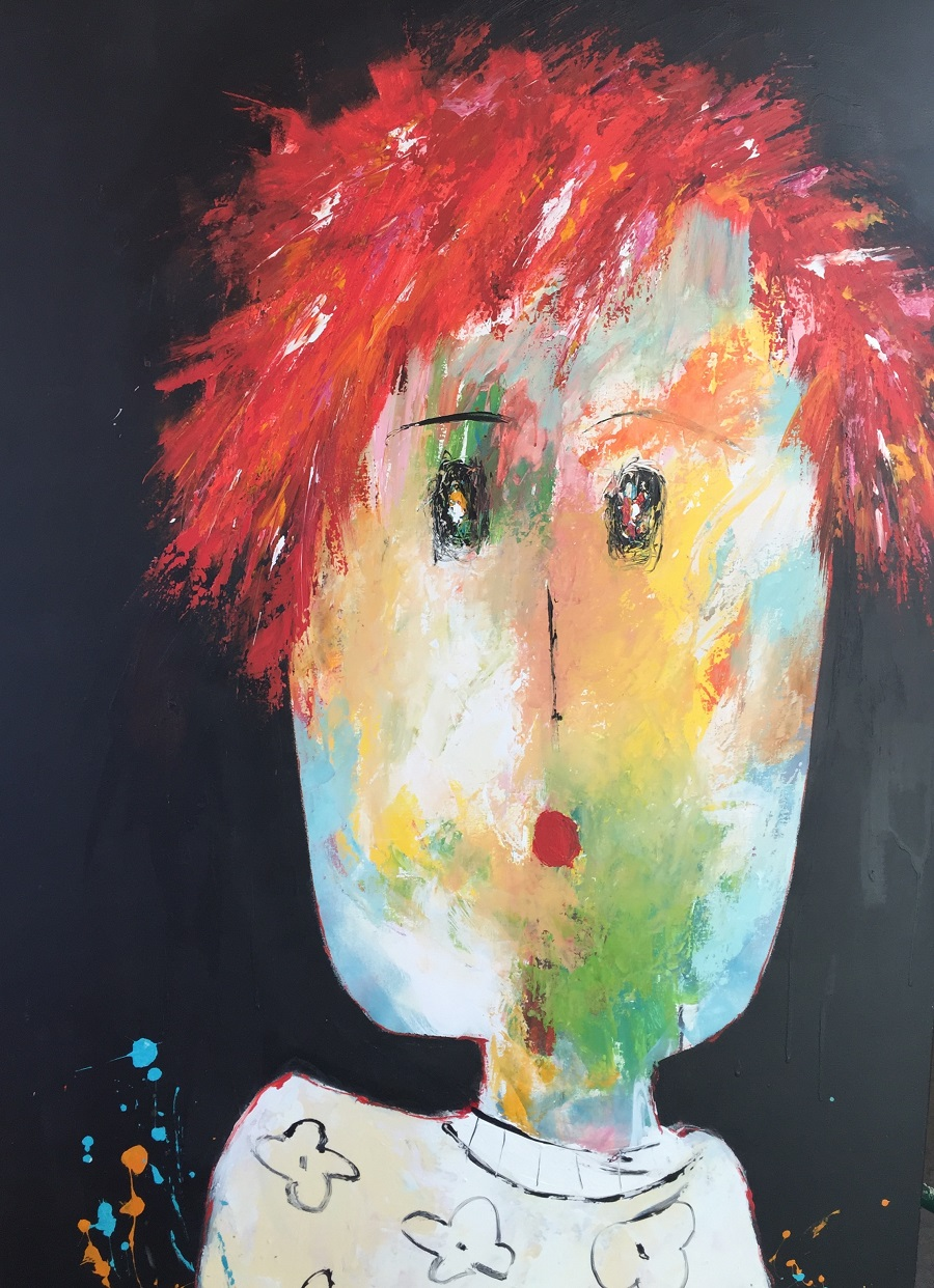 Marie Charlotte - Huile sur toile - 160x100 cm