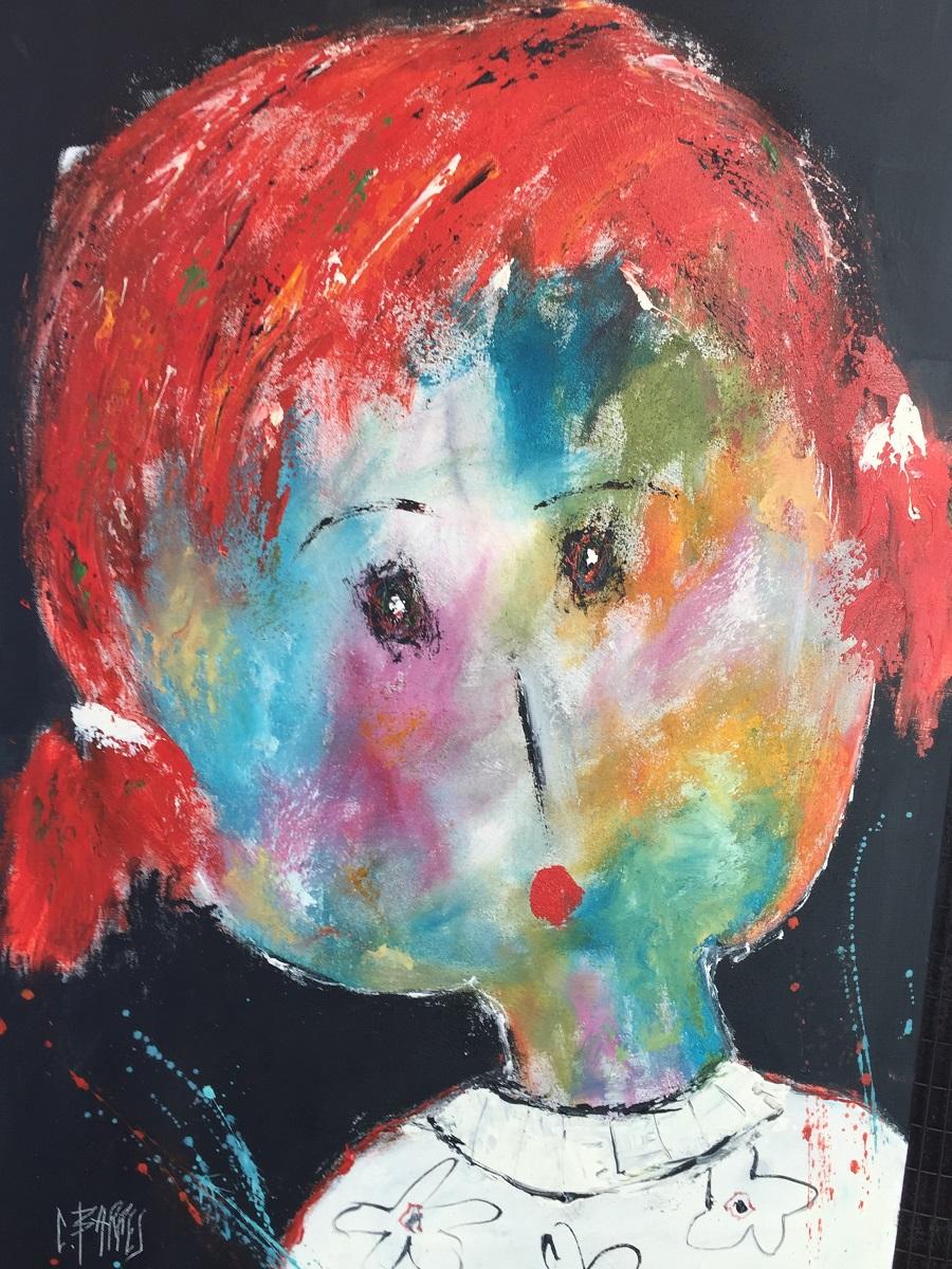 Mariette - Huile sur toile - 116x73 cm