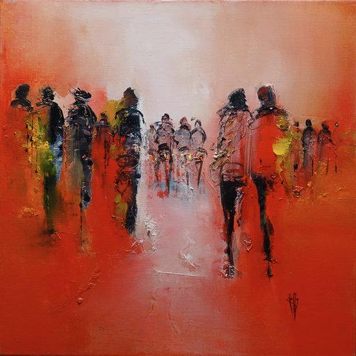 Red - Huile sur toile - 50x50 cm