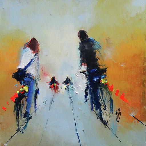 Ensemble - Huile sur toile - 30x30 cm