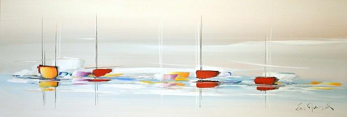 La belle étendue - Acrylique sur toile -120 x 40 cm