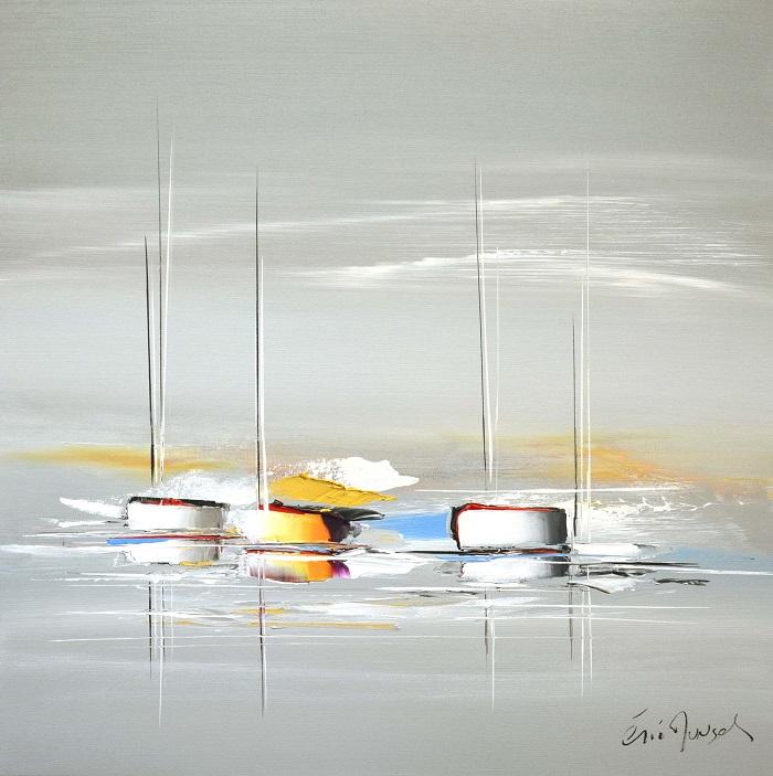 Voyage insolite- Acrylique sur toile - 60 x 60 cm