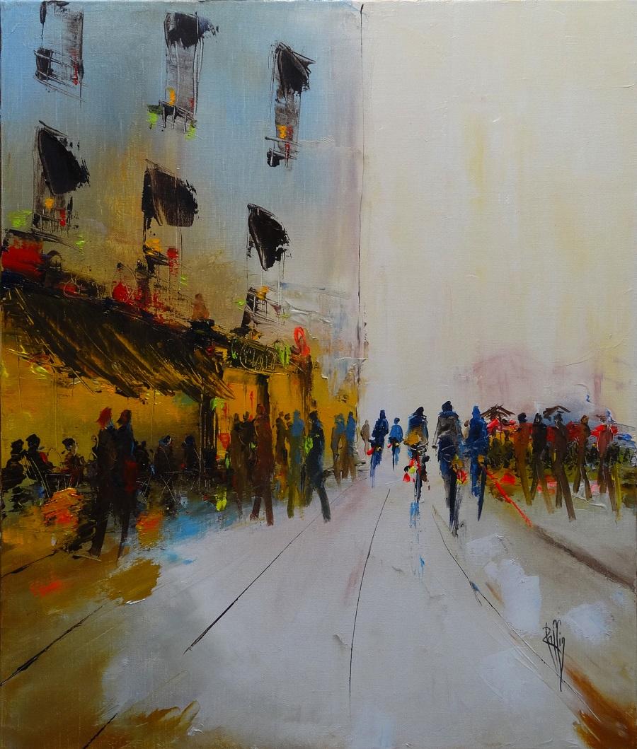 1111 - Soleil - Huile sur toile - 65x54 cm