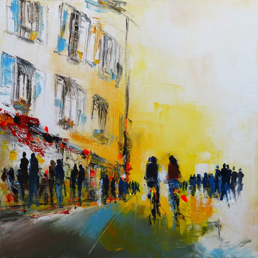 982 - Yellow song - Huile sur toile - 60x60 cm