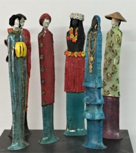 Sculptures Ethiniques en groupe