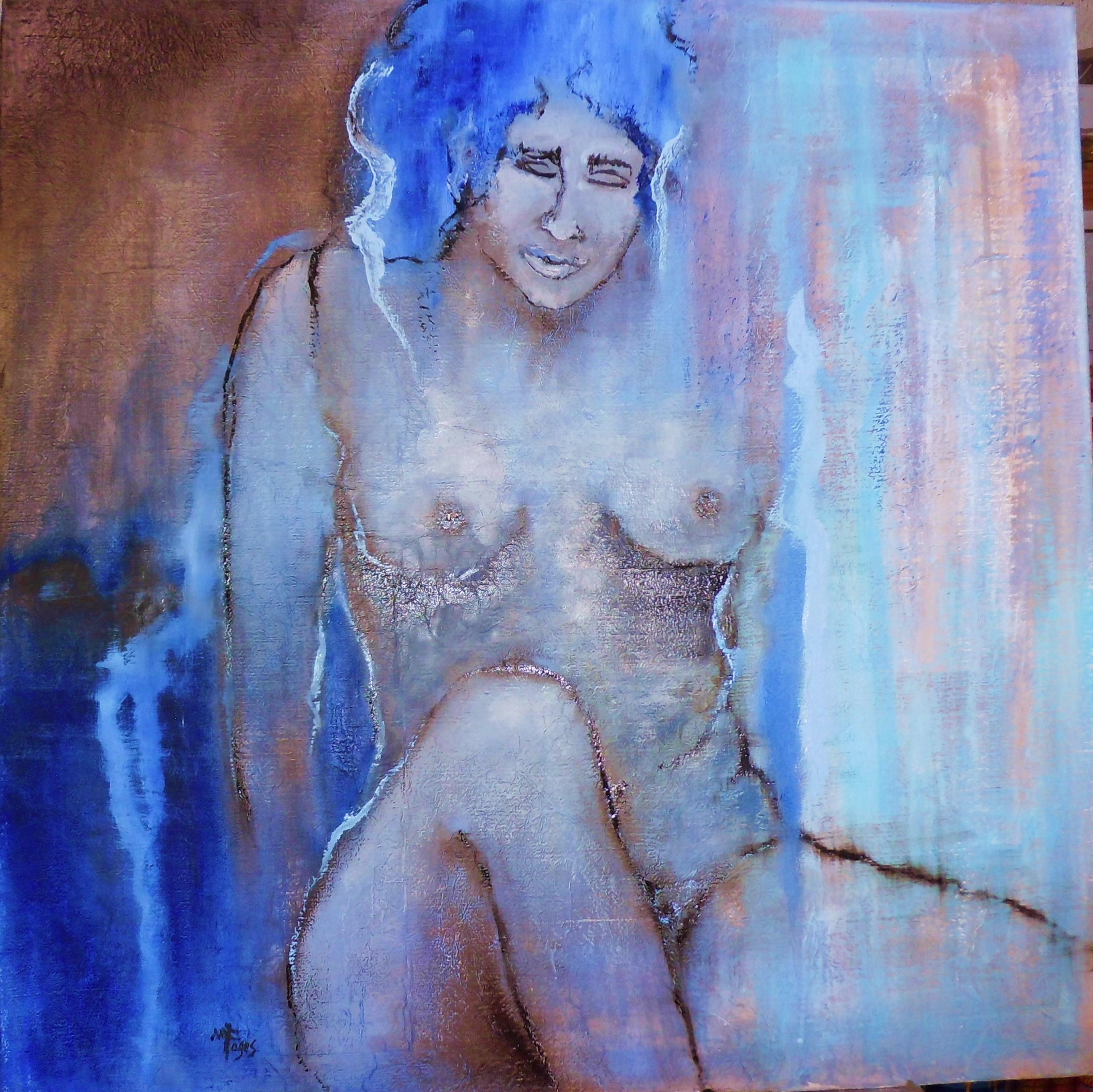 Isabella- Huile sur papier marouflé sur toile - 80x80 cm