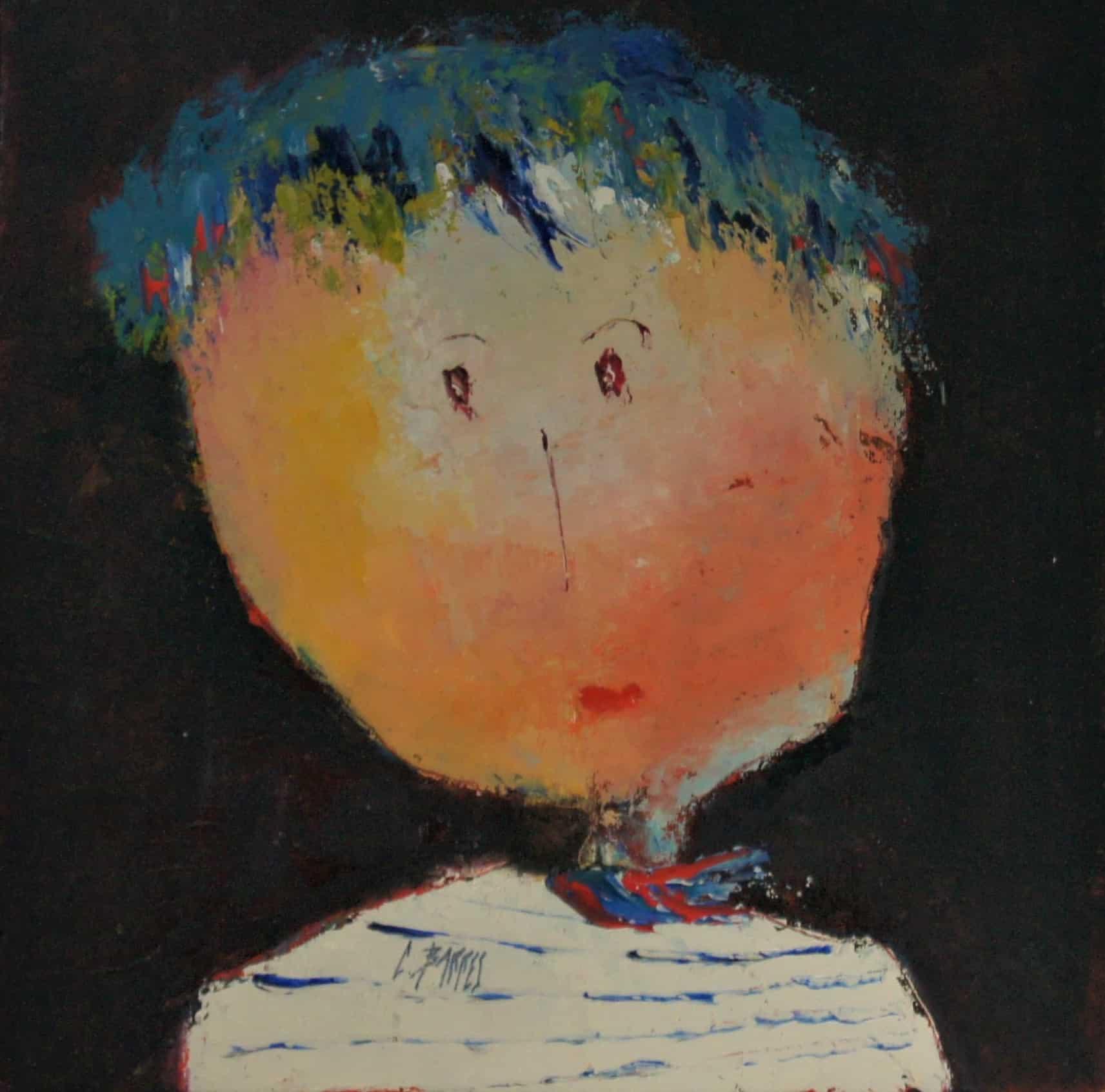 César - Huile sur carton entoilé - 30x30 cm