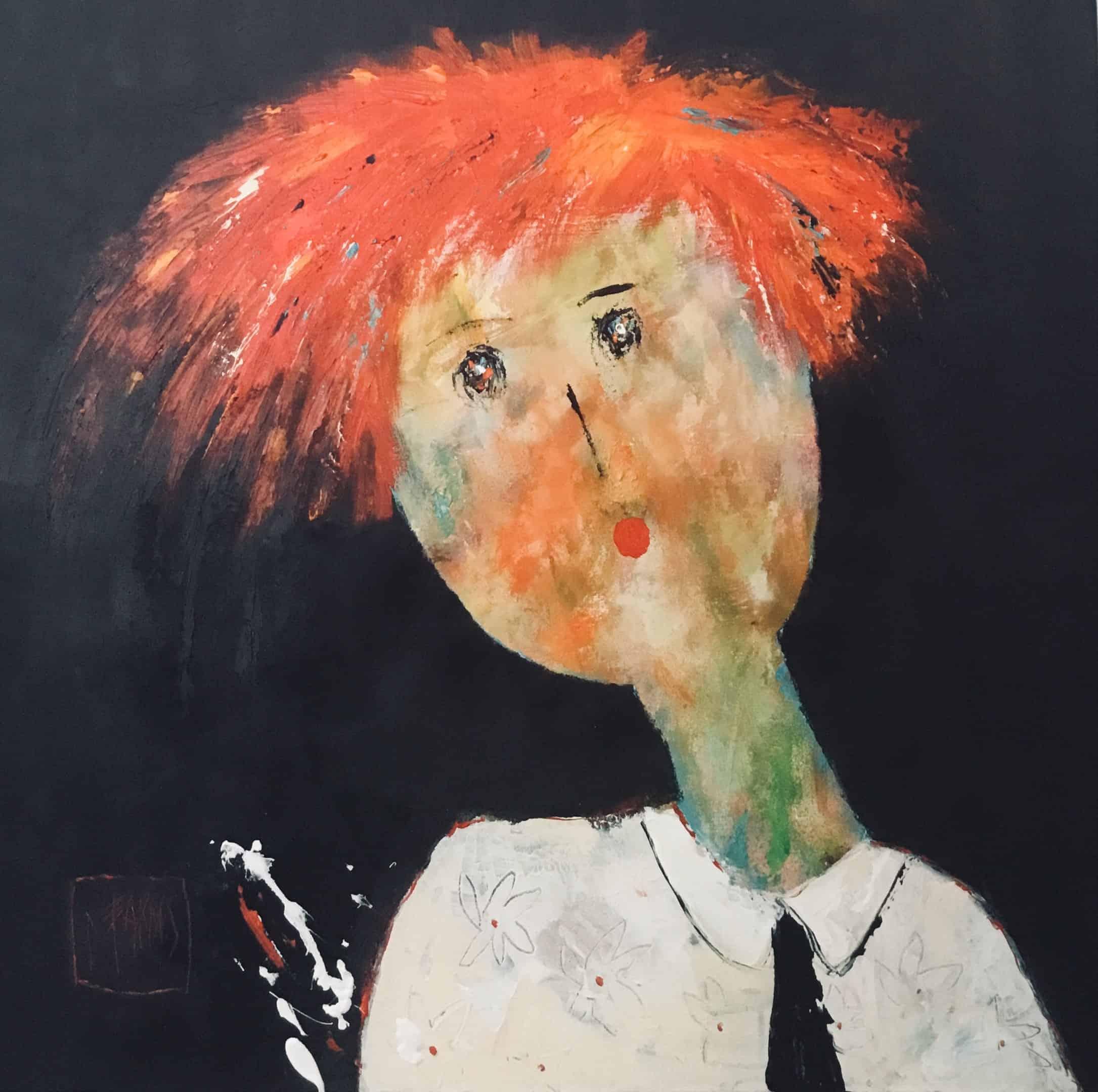 Camille - Huile sur toile -80x80 cm