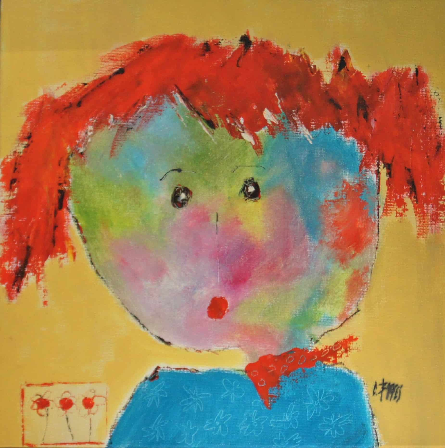 Constance - Huile sur carton entoilé - 30x30 cm