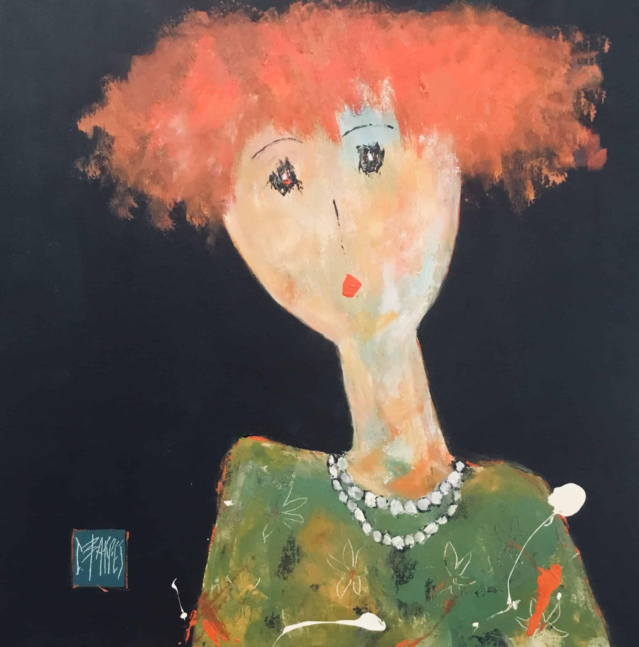 Constance - Huile sur toile - 80x80 cm