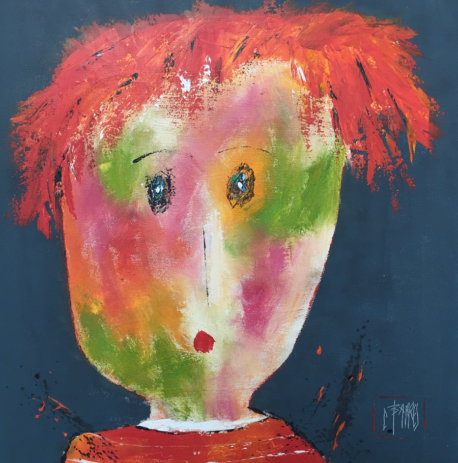 Charles Edouard - Huile sur toile - 80x80 cm