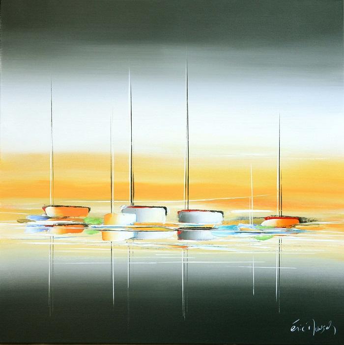 Au lever d'un jour -Acrylique sur toile - 80 x 80 cm