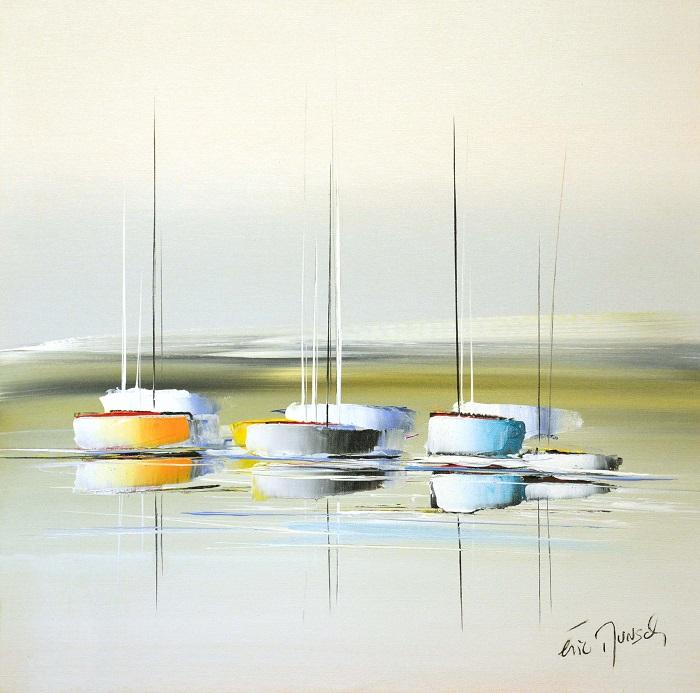 Balade sur océan - Acrylique sur toile - 60 x 60 cm