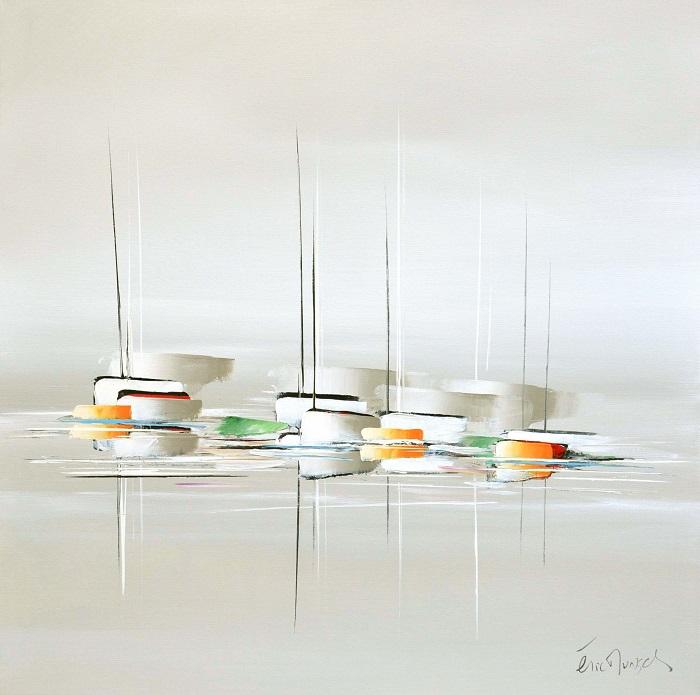Le voyage blanc - Acrylique sur toile -80 x 80 cm