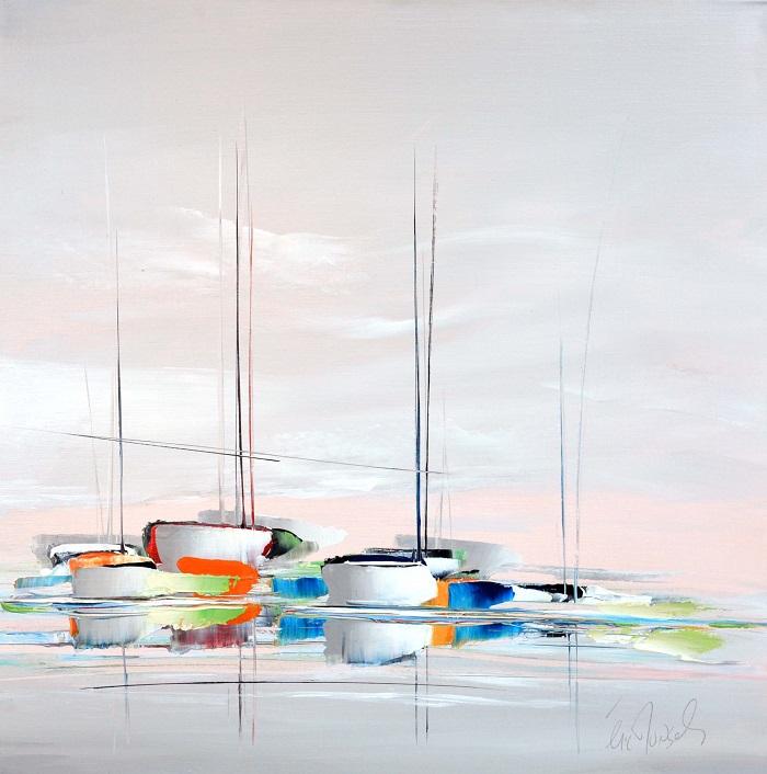 Marine moderne - Acrylique sur toile - 80 x 80 cm