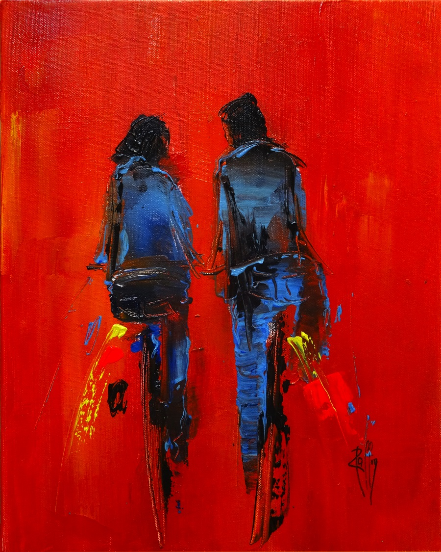1109 - Rouge Passion - Huile sur toile - 41x33 cm