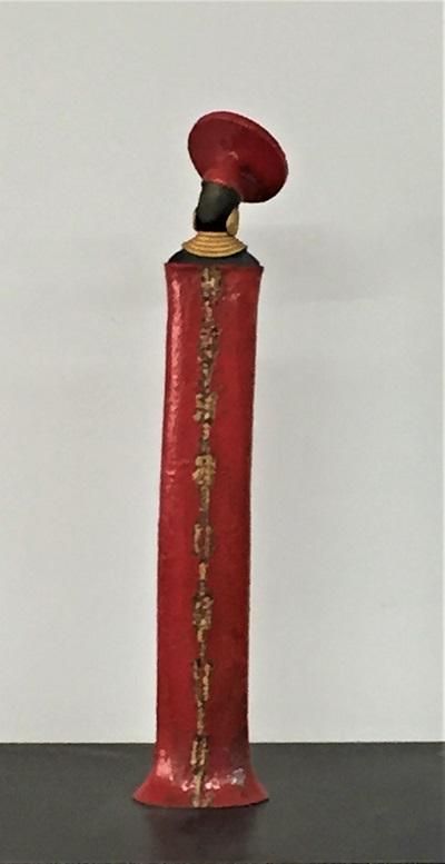 Femme Zoulou rouge - Céramique - 42 cm