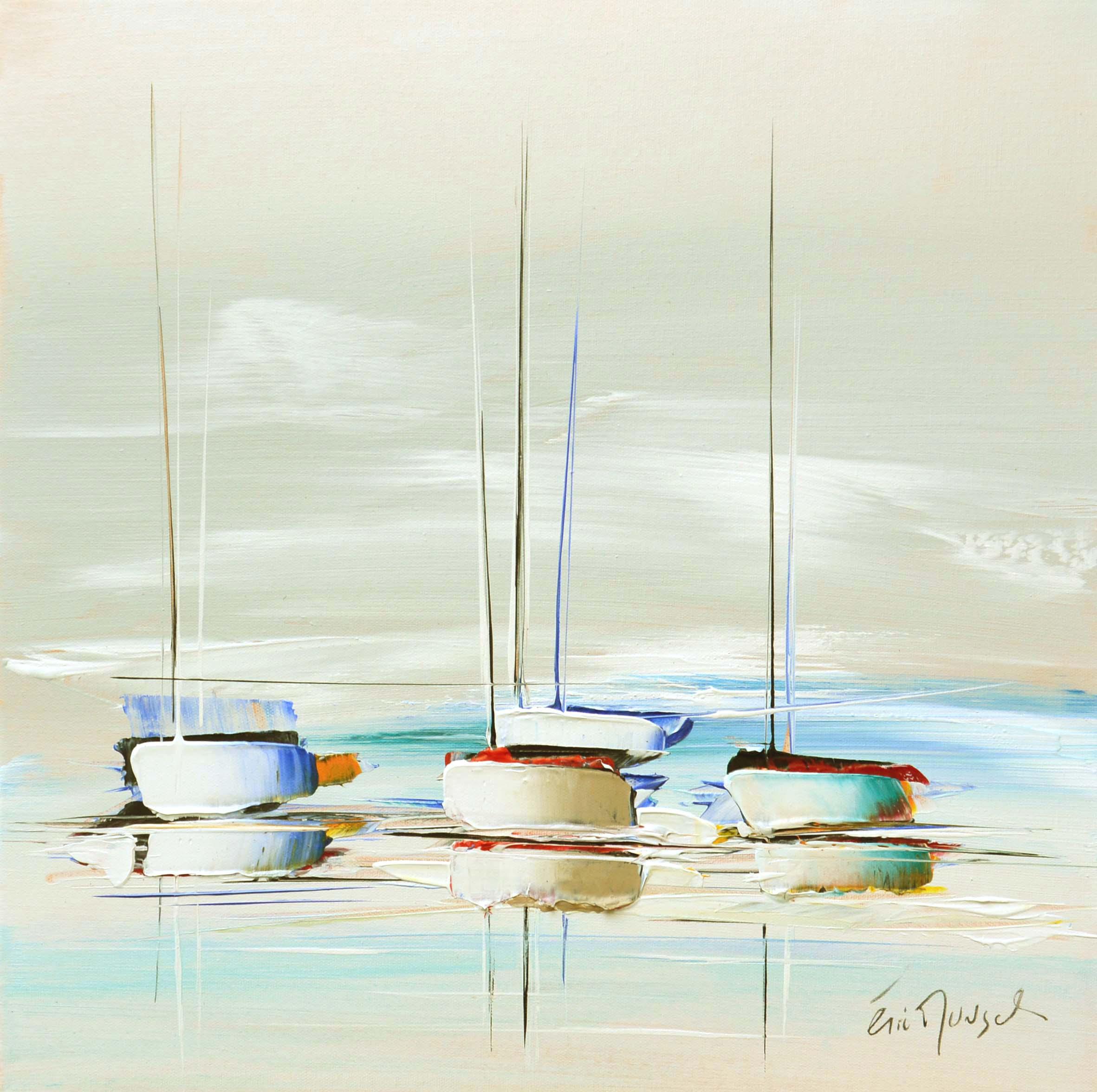 Bout de voyage - Acrylique sur toile - 50x50 cm