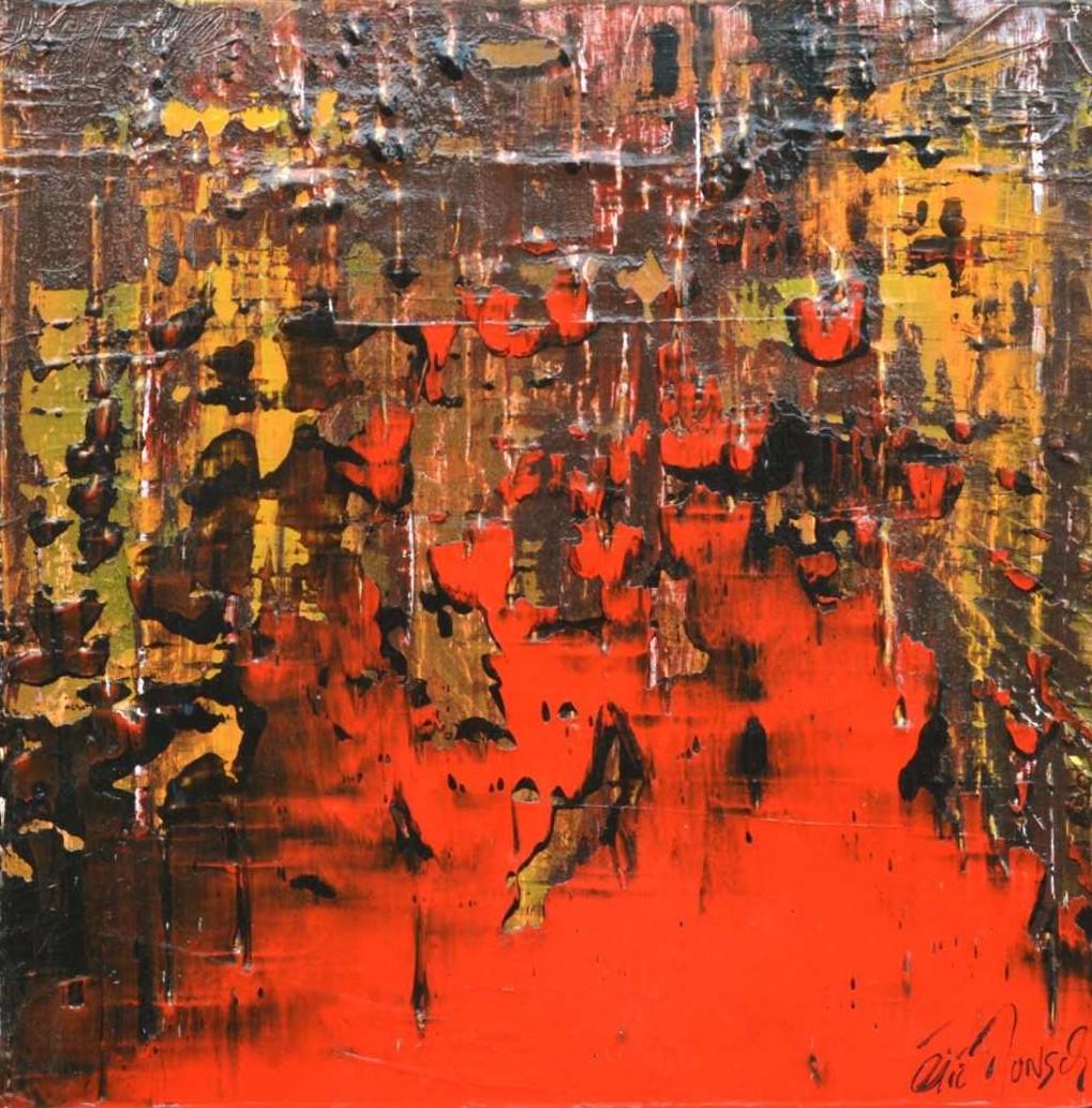 Comme la passion - Acrylique sur toile - 50x50 cm
