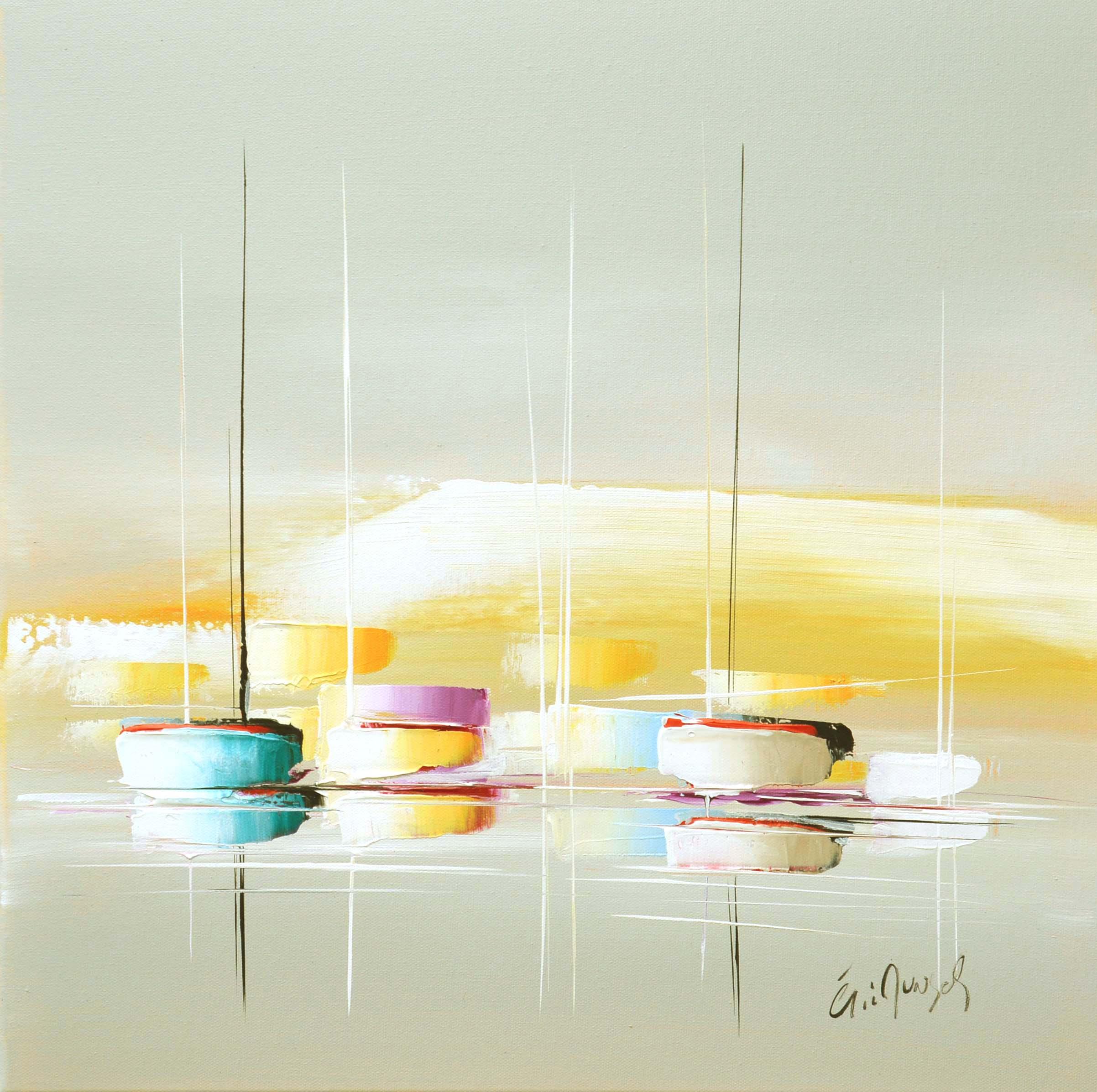 Couleur de printemps - Acrylique sur toile - 50x50 cm