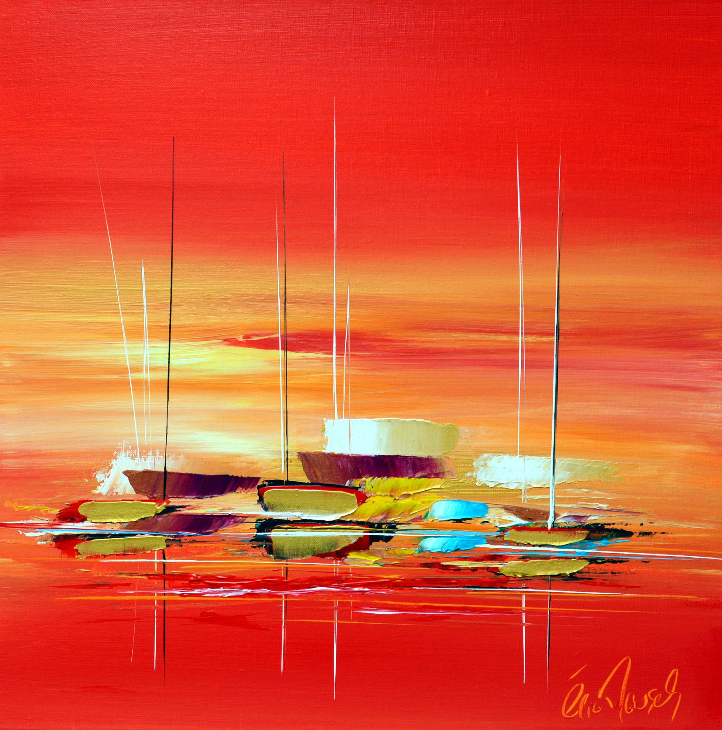 Paisible étendue - Acrylique sur toile - 60x60 cm