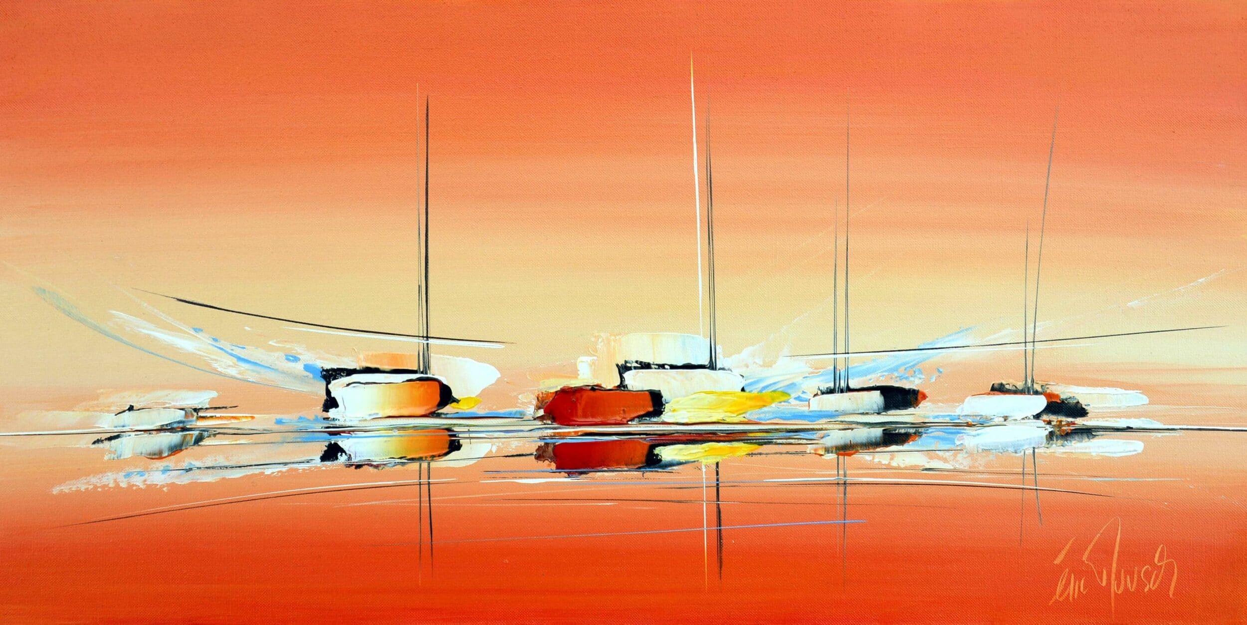 Plaisir Maritime - Acrylique sur toile - 40x80 cm
