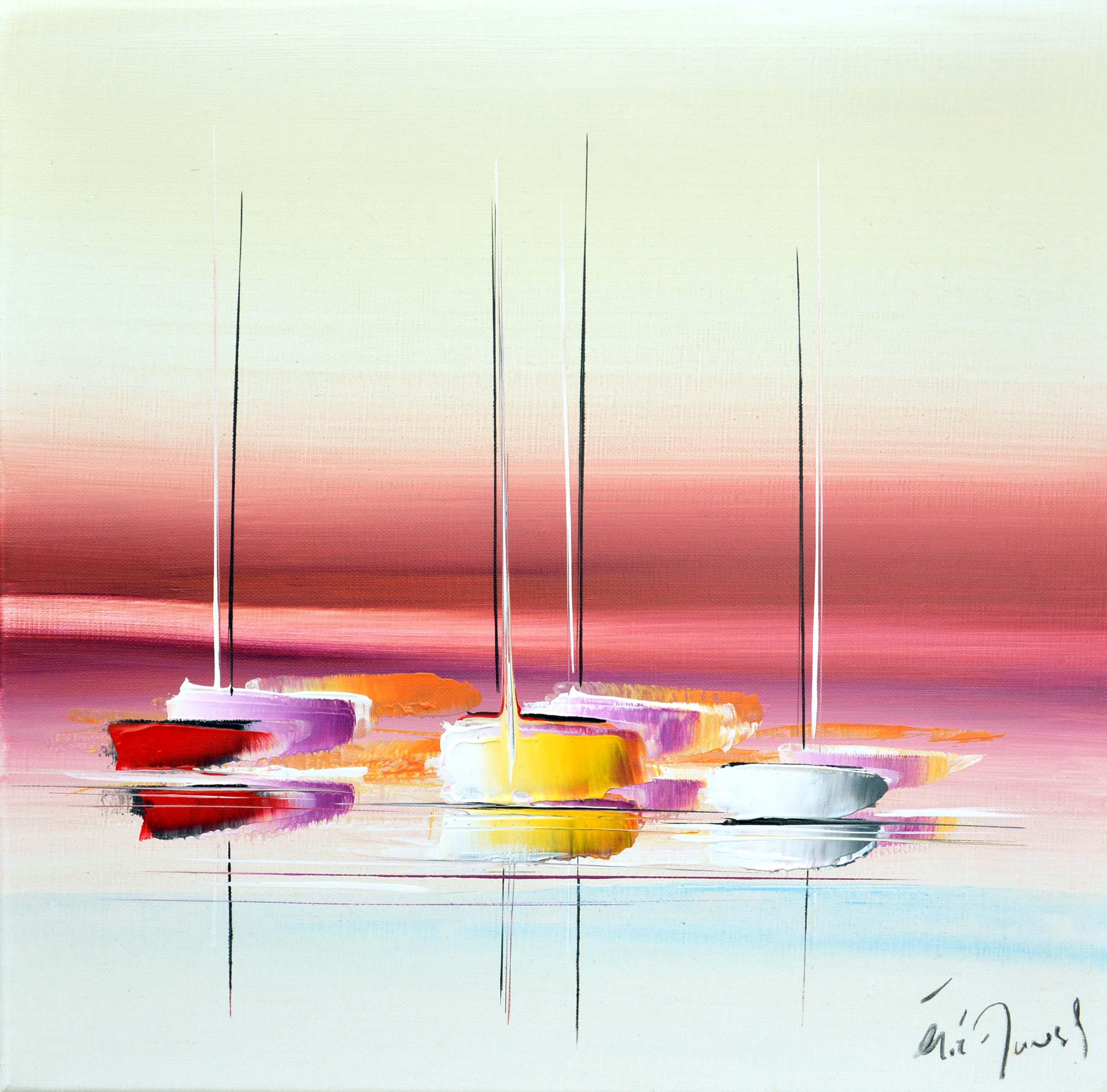 Soir d'été - Acrylique sur toile - 40x40 cm