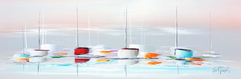 Lumière d'été - Acrylique sur toile - 40x120 cm