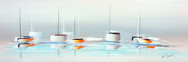 Le grand voyage - Acrylique sur toile - 40x120 cm