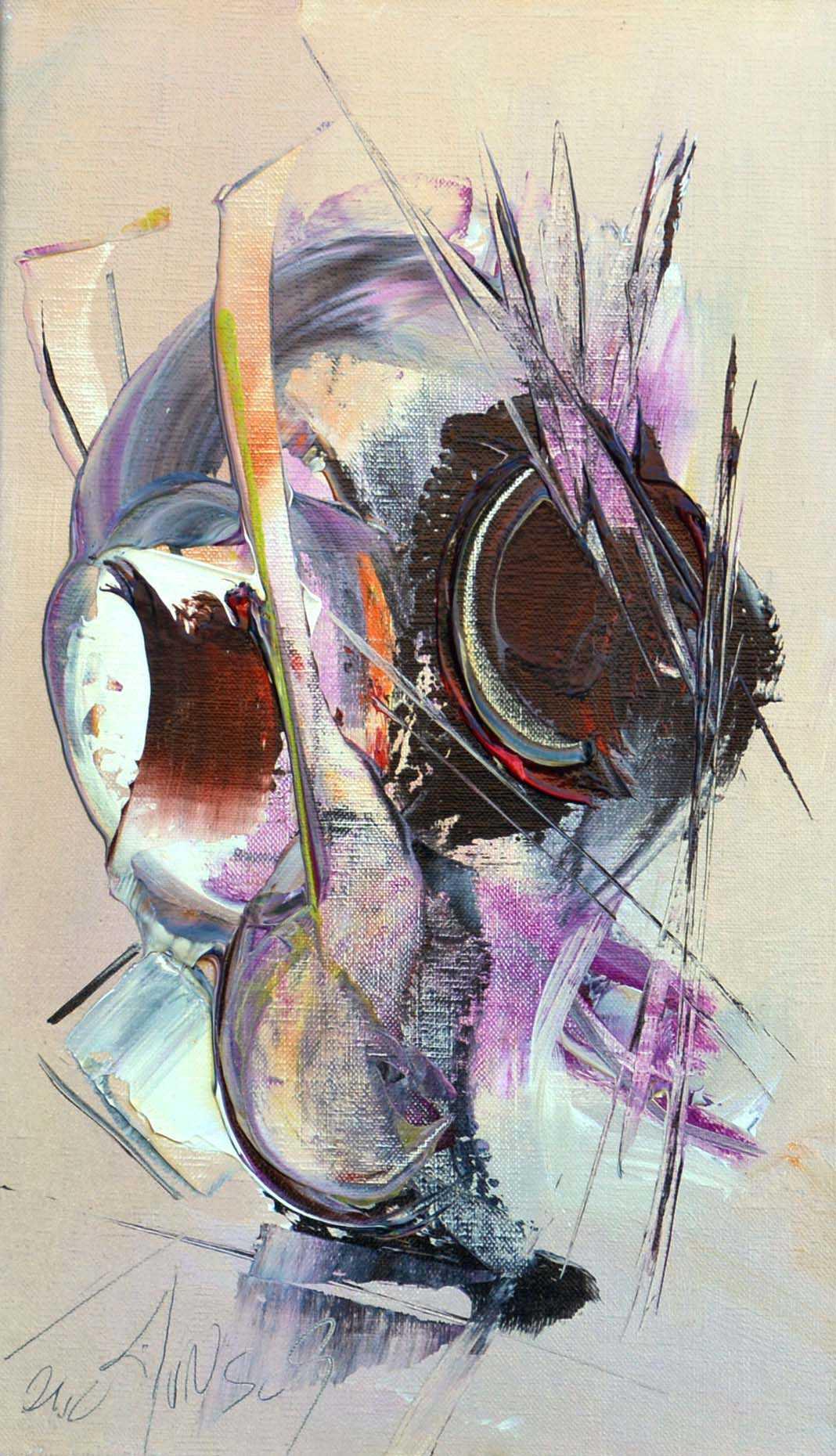 Comme un regard - Acrylique sur toile - 46x27 cm