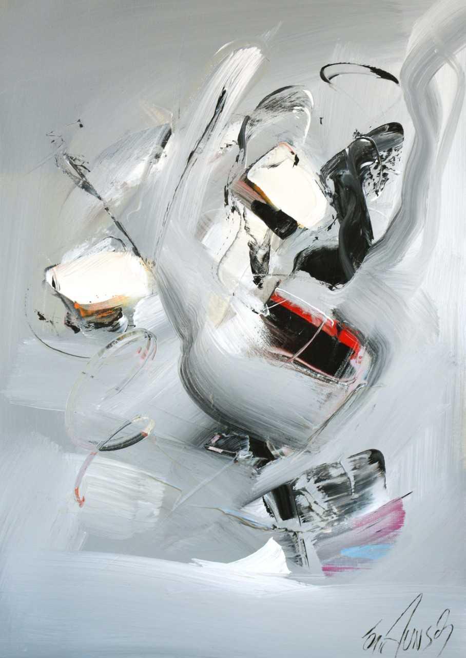 Construction - Acrylique sur toile - 70x50 cm