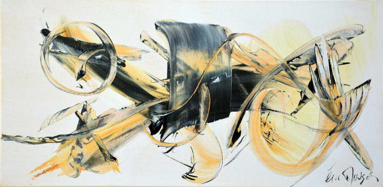 En plein vol - Acrylique sur toile - 30x60 cm