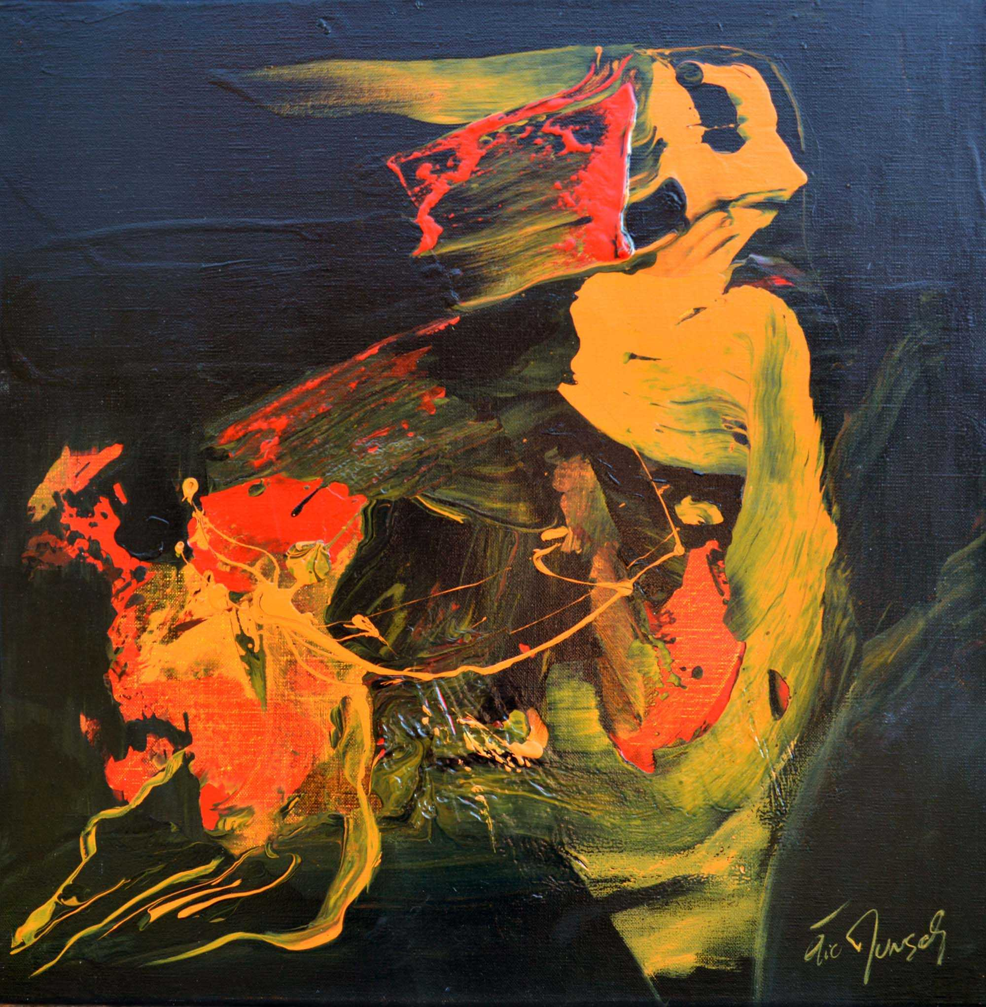 Expression Abstraite - Acrylique sur toile - 50x50 cm