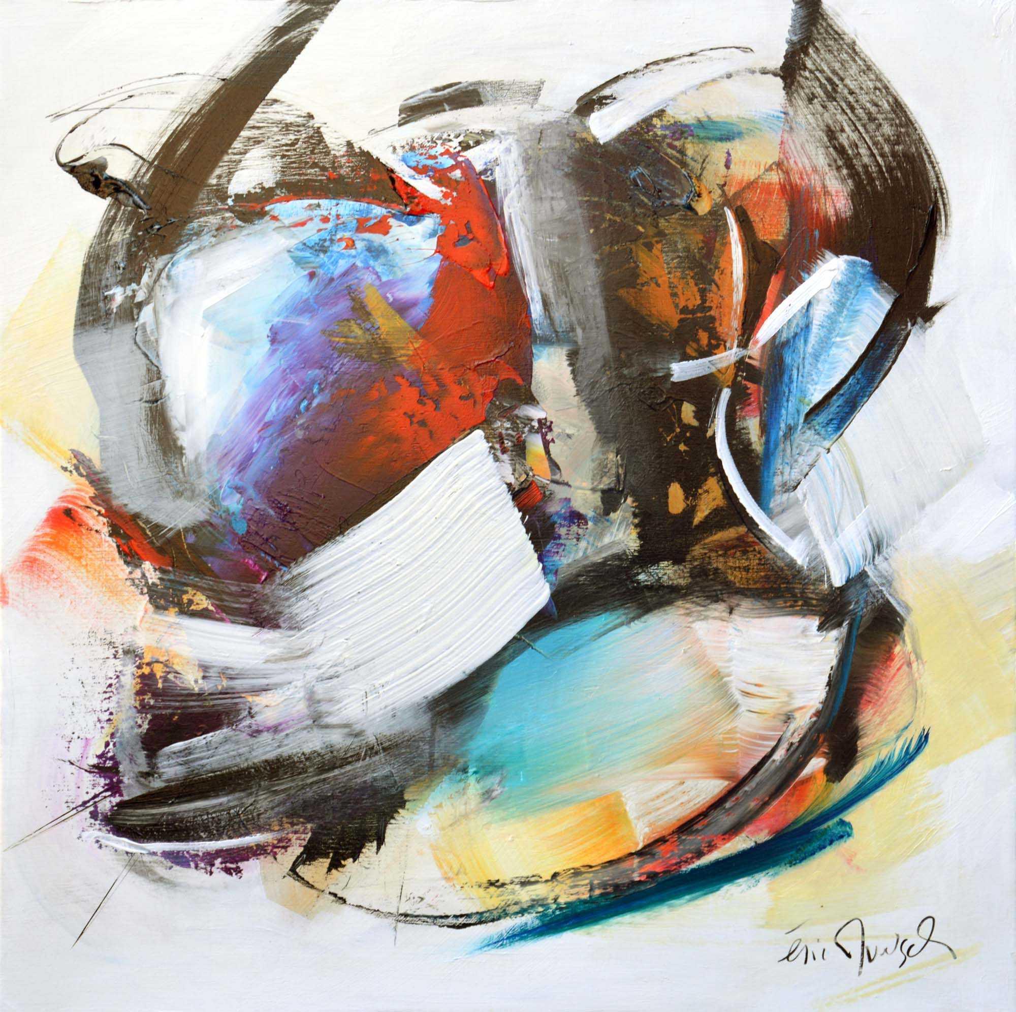 Forme et mouvement - Acrylique sur toile - 80x80 cm