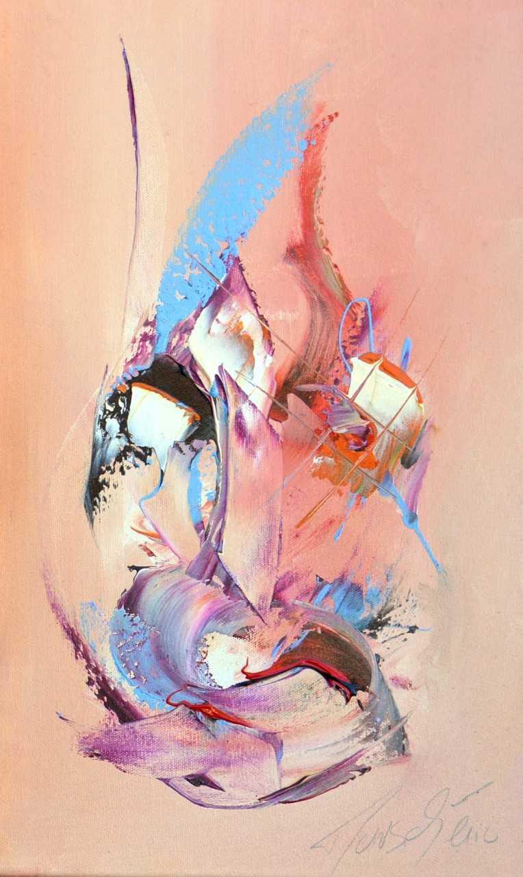 Juste un regard - Acrylique sur toile - 50x30 cm
