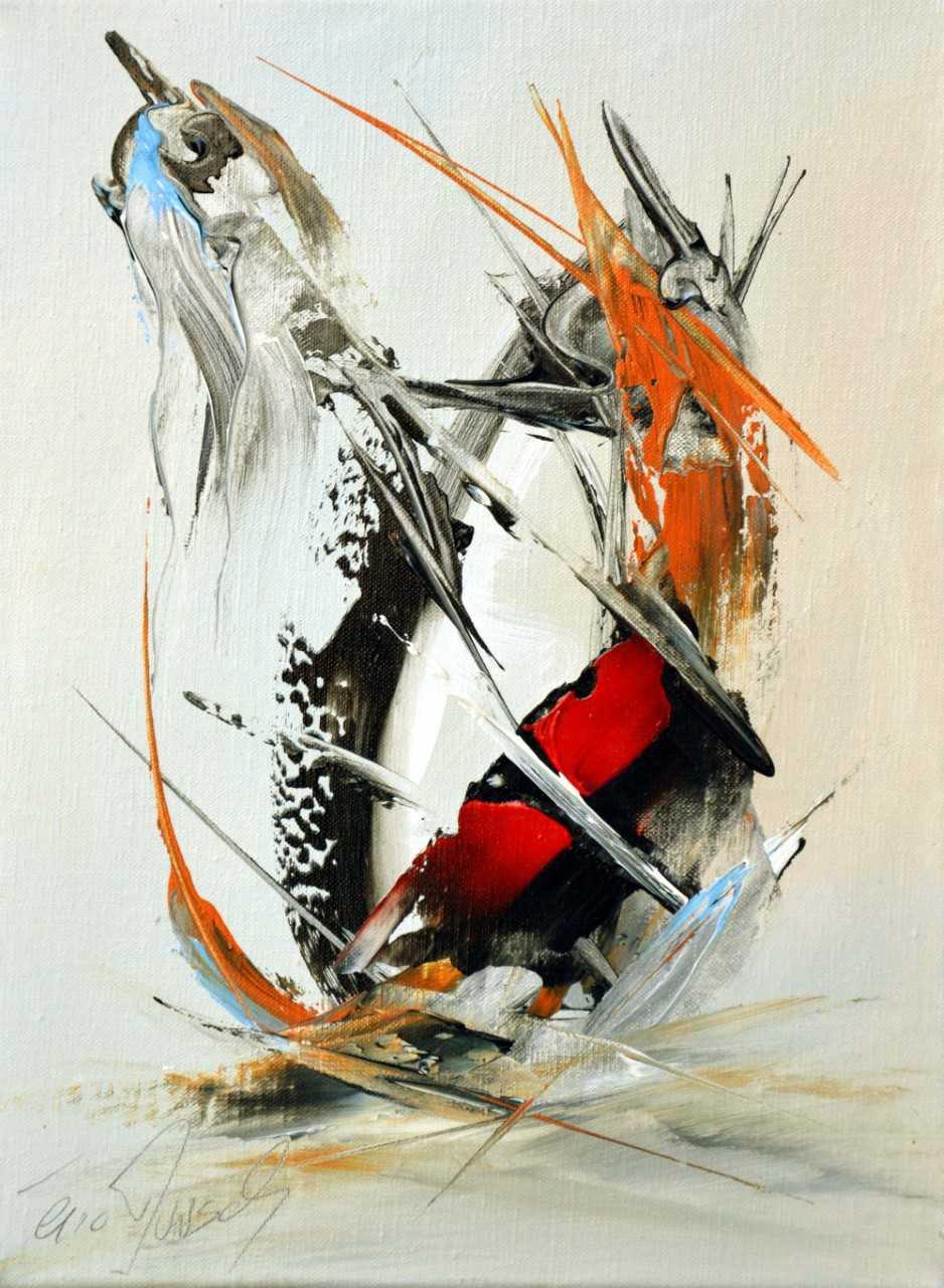 Le mystique - Acrylique sur toile - 40x30 cm