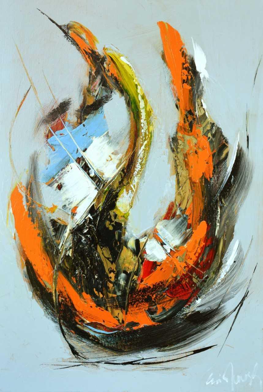 Le sourire - Acrylique sur toile - 73x50 cm