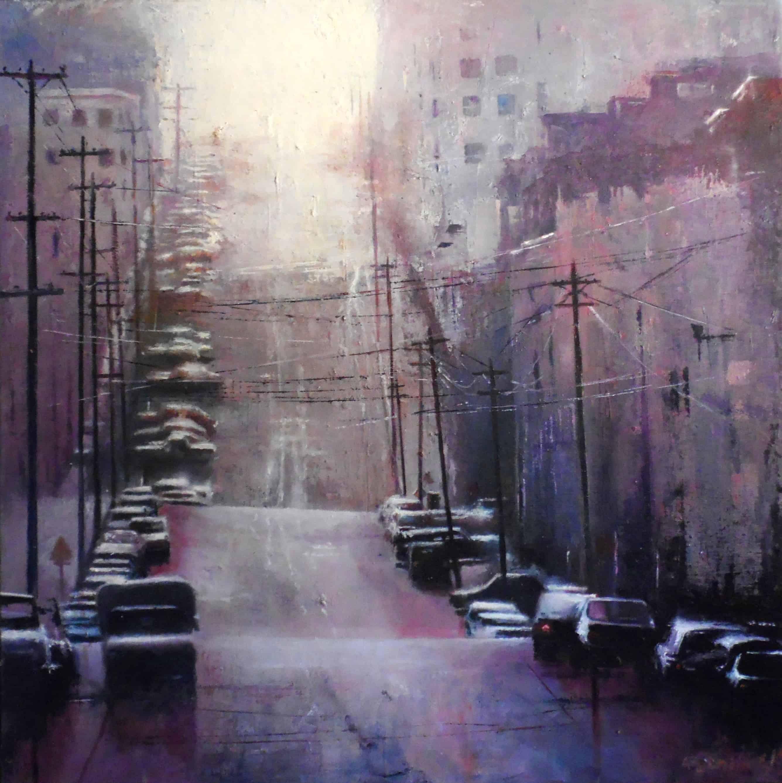 San Francisco - Huile sur toile - 50x50 cm