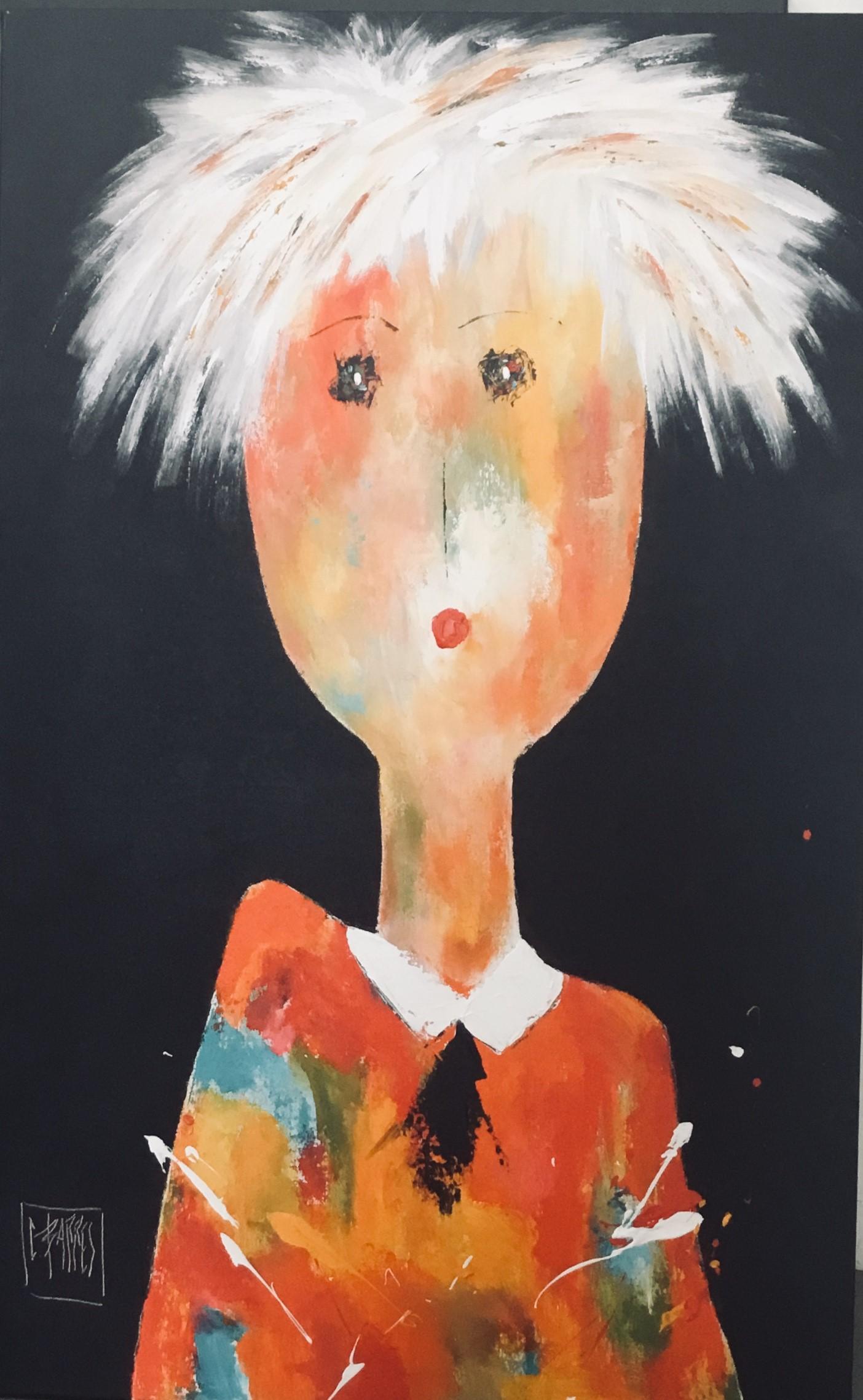 Le peintre - Huile sur toile -116x73 cm