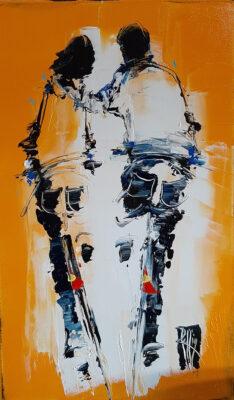 Instant présent - Huile sur toile - 50x30 cm