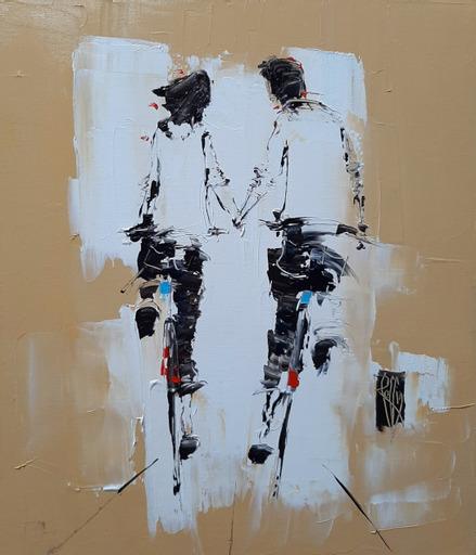 Juste là - huile sur toile - 65x54 cm