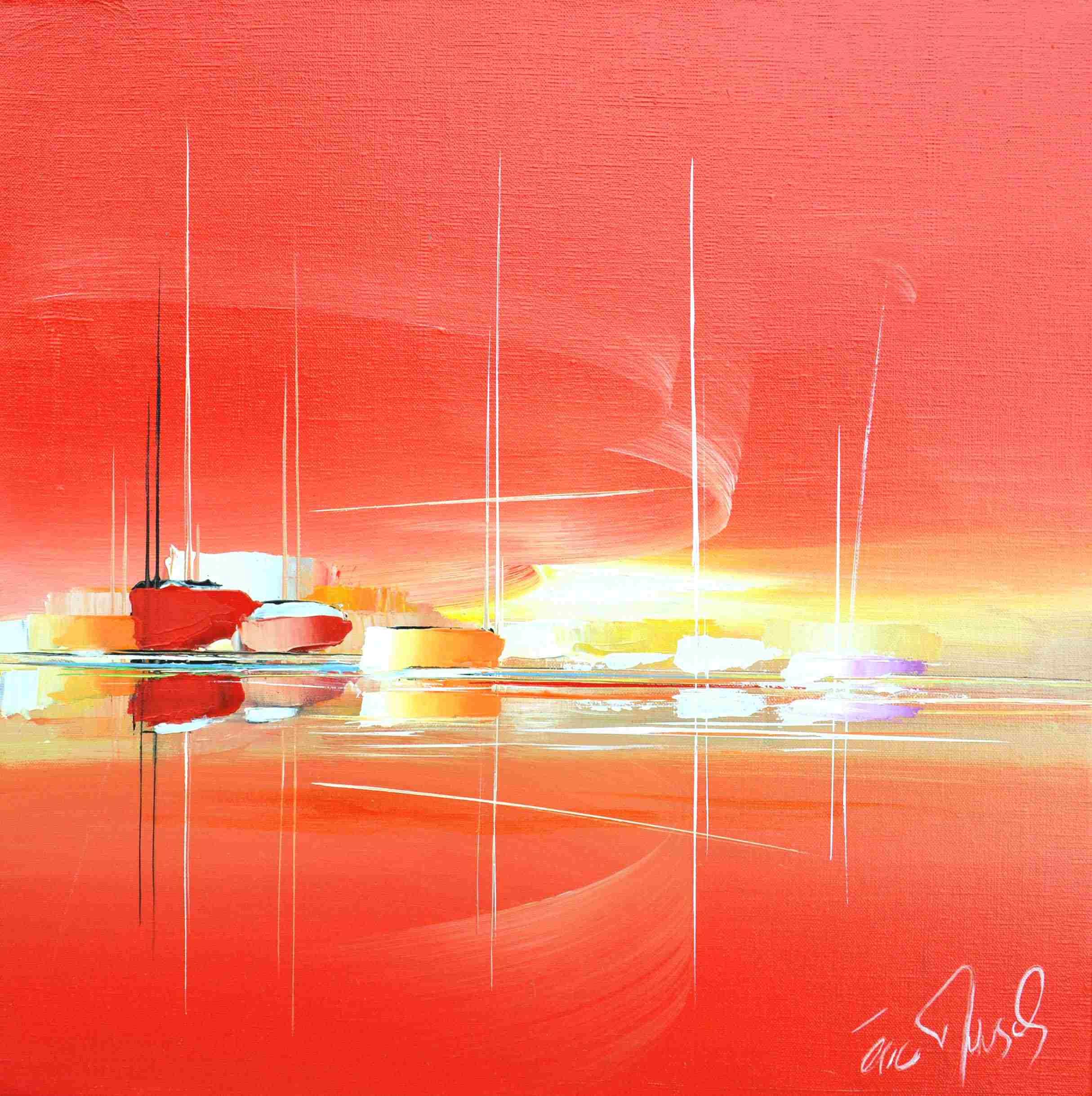 The day dream - Eric Munsch - Acrylique sur toile - 50x50 cm - Galerie Bost