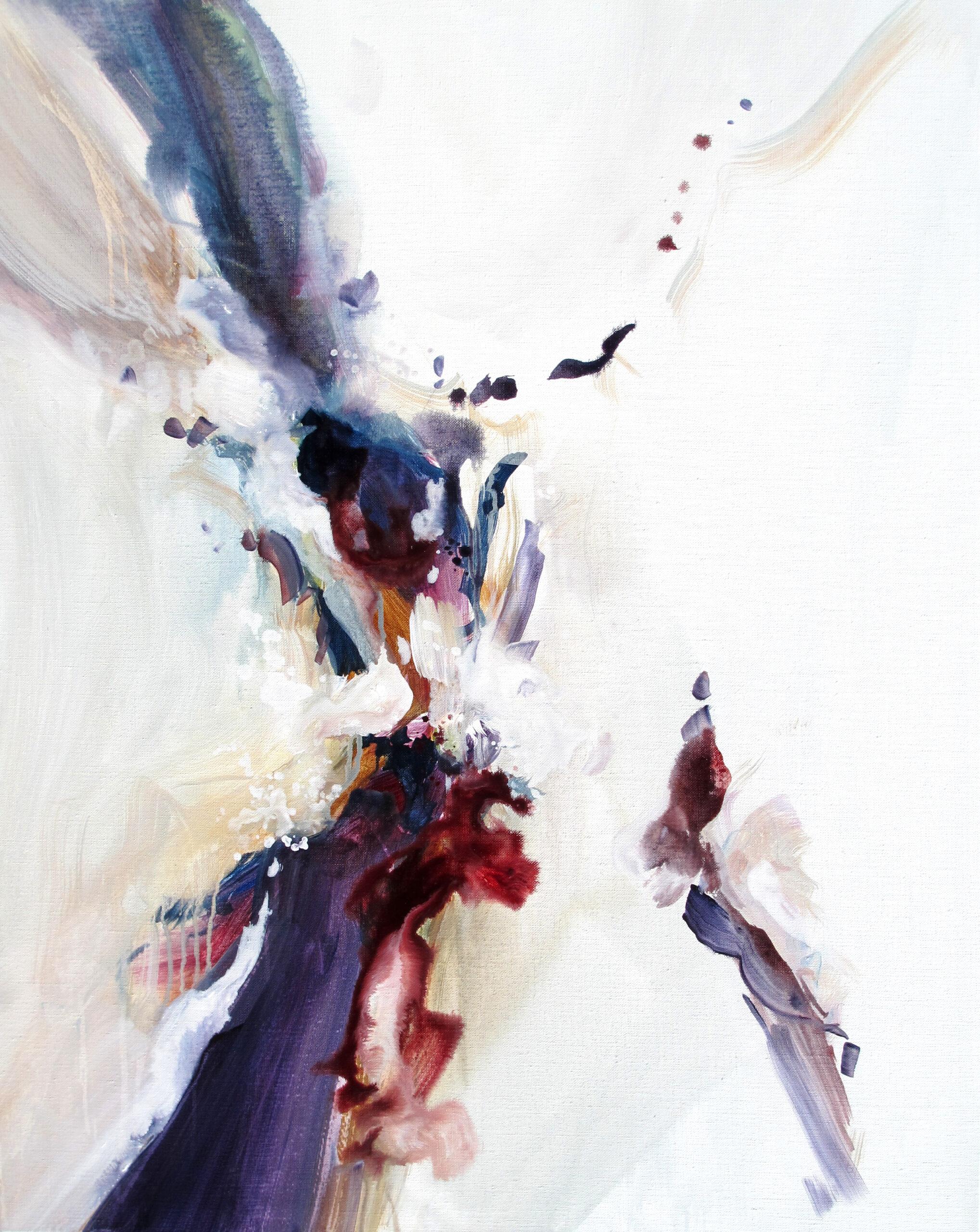 Entre Elle et Blanche - n°A021118 -Acrylique sur toile - 92 x 73 cm