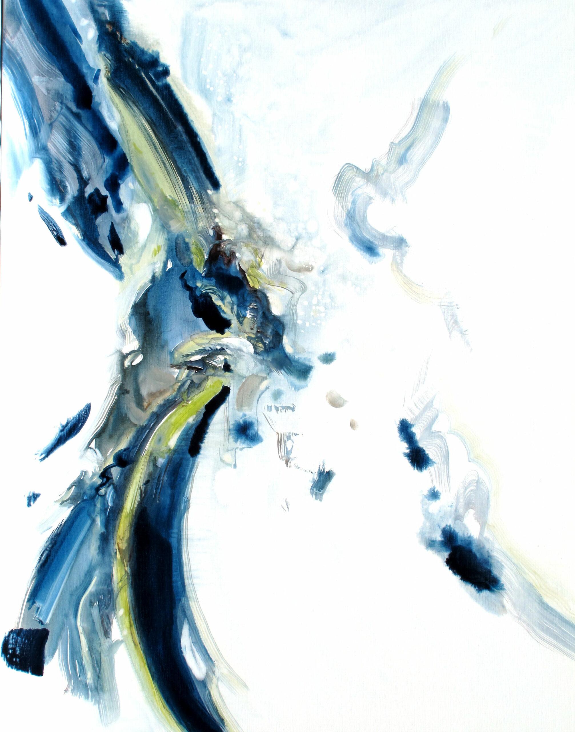 Entre Elle et Blanche n° A080621 - Acrylique sur toile-100 x 80 cm