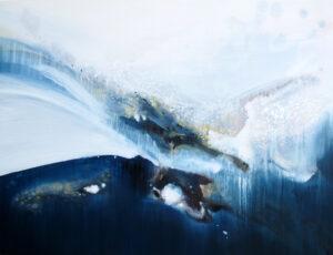 Entre Air et sur Terre n°A011117 - Acrylique sur toile - 89 x 116 cm
